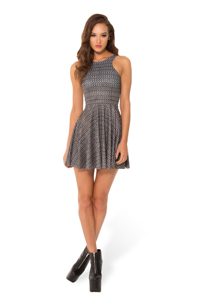 Chainmail Reversible Skater Dress