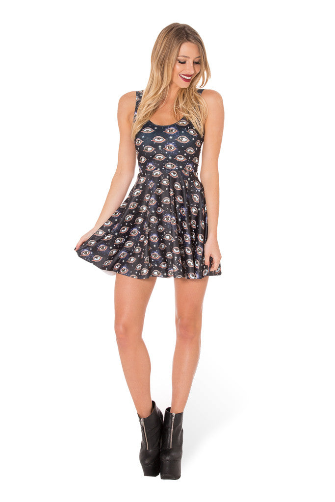 Eye See You Scoop Skater Dress