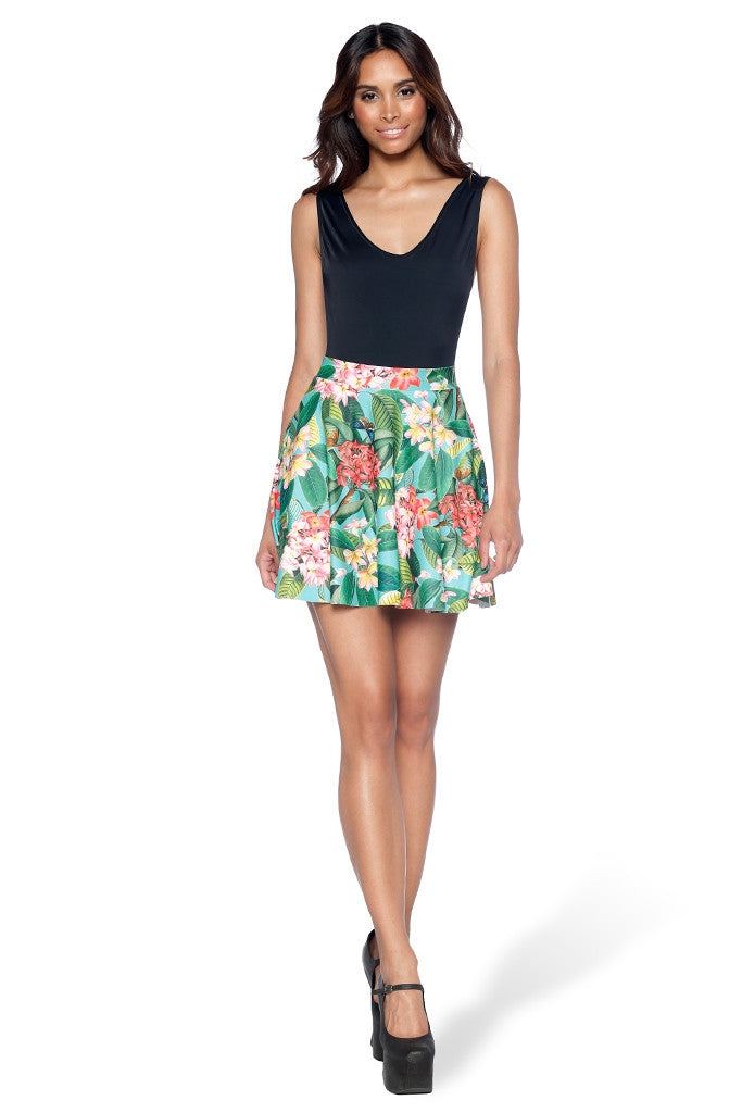 Frangipani Pocket Skater Skirt