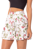Gorgeous Garden White Cheerleader Skirt