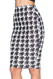 Hoot and Screech Midi Pencil Skirt