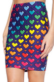 Love Ya Bits Rainbow Pencil Skirt - LIMITED