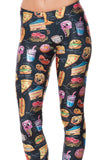 Munchies Black Leggings