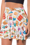 Munchies Cream Skater Skirt