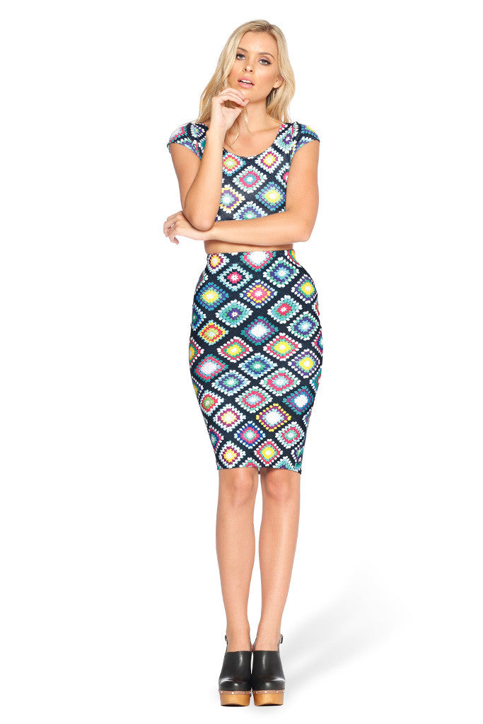 Nana Blanket Midi Pencil Skirt - LIMITED