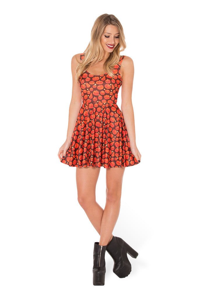 Pumpkin Patch Scoop Skater Dress