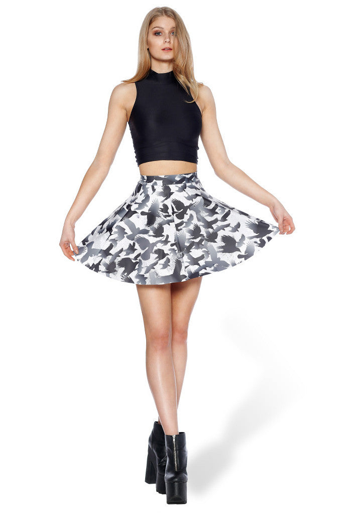 Raven Pocket Skater Skirt