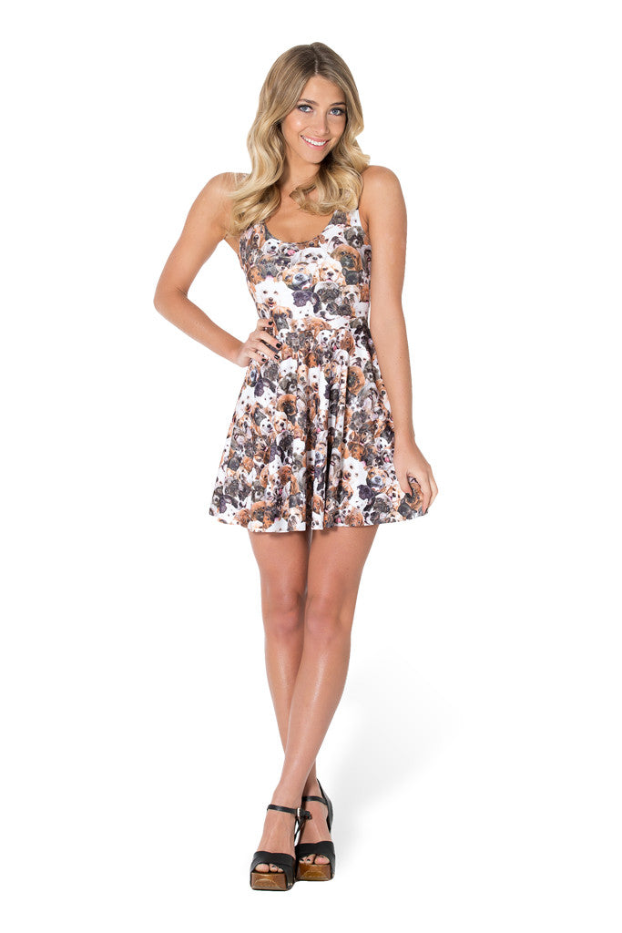 Show Me Your Puppies Scoop Skater Dress