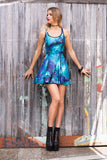 St Vitus Vs Galaxy Teal Inside Out Dress