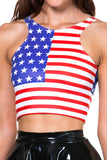Star Spangled Reversible Crop