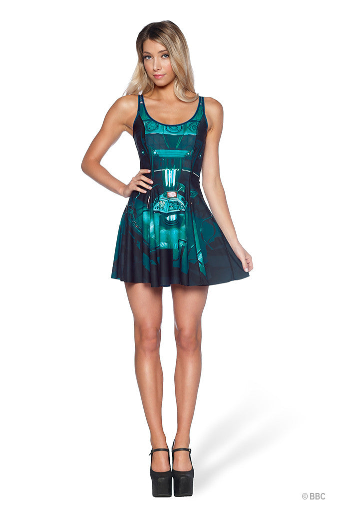 DOCTOR WHO– BLACK MILK CLOTHING | TARDIS inside out scoop skater dress for summery every night