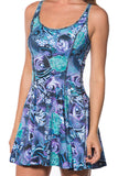 Tartan Aqua Vs Koi Purple Inside Out Dress - LIMITED