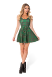 Tartan Green Scoop Skater Dress