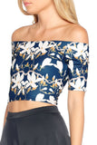 Twilight Magnolia Off the Shoulder Crop