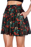 Wild Cherry Pocket Skater Skirt