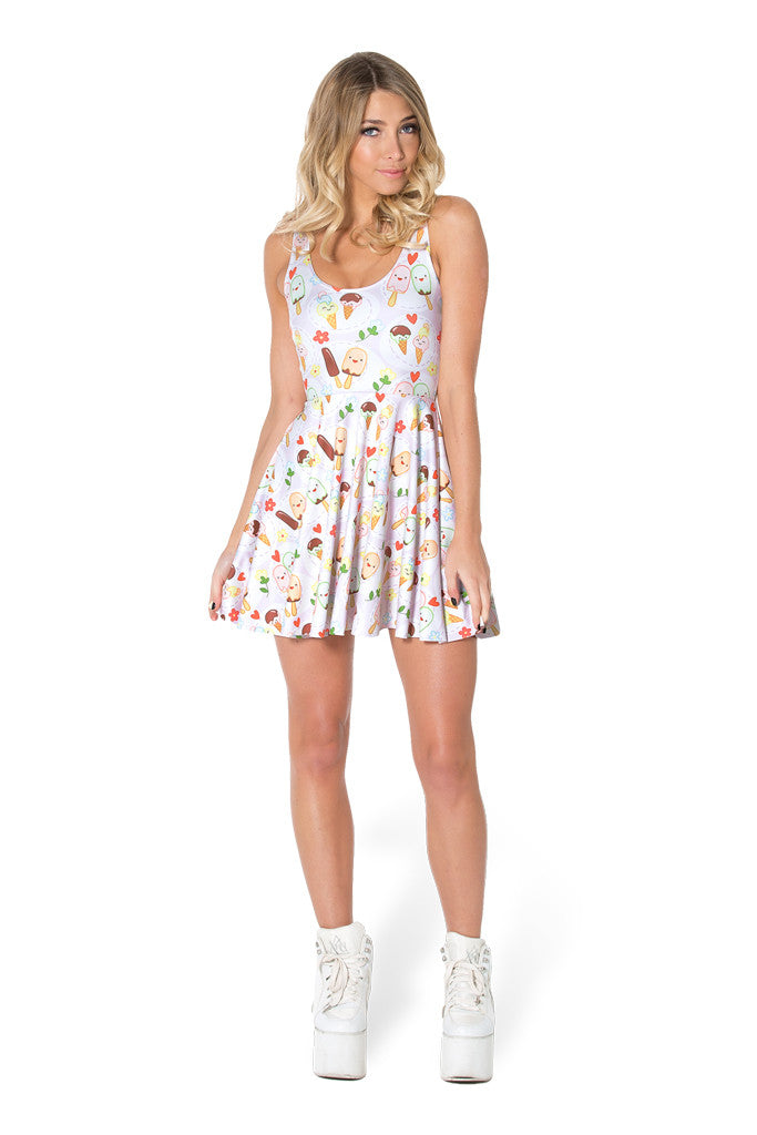 You Scream Ice Cream Scoop Skater Dress