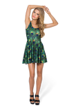 Peacock Scoop Skater Dress