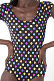 Rainbow Spotty Cap Sleeve Bodysuit