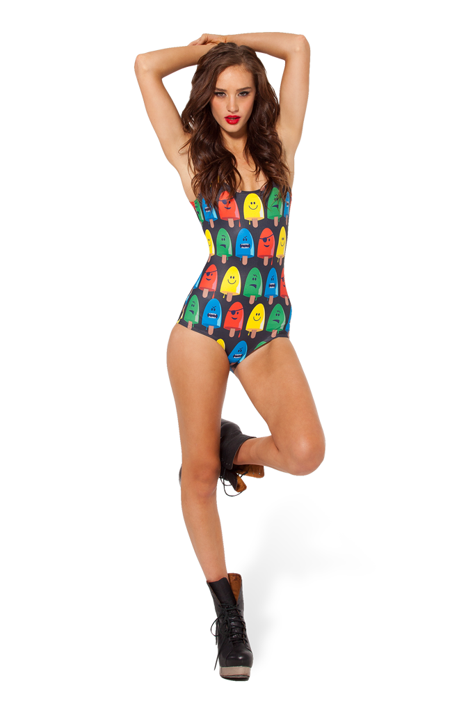 Popsicle Black Swimsuit