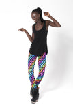 Psychedelic Chess Leggings