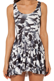 Raven Scoop Skater Dress