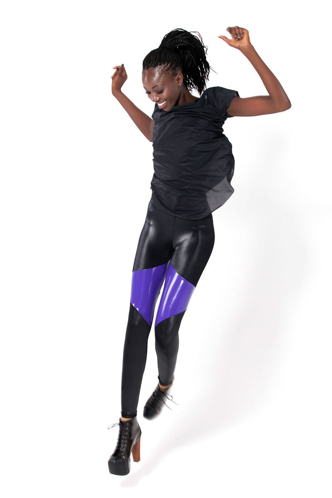 Spartans Purple PVC Leggings