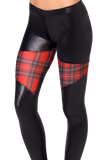 Spartans Sheer Tartan Red Leggings