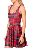 Tartan Red Reversible Skater Dress