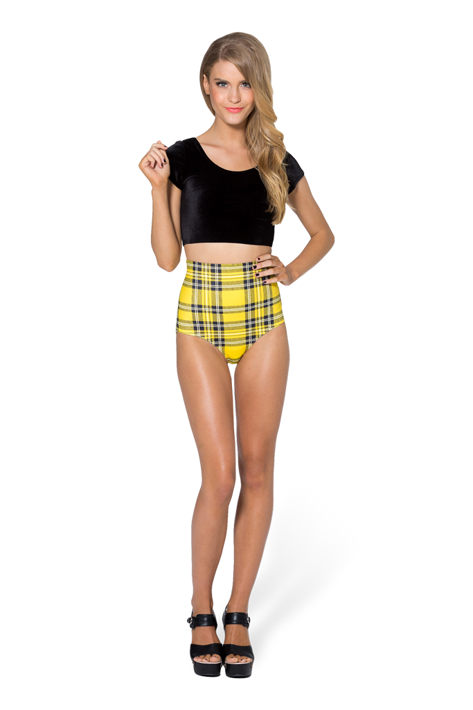 Tartan Yellow Nana Suit Bottom