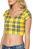 Tartan Yellow Nana Suit Top