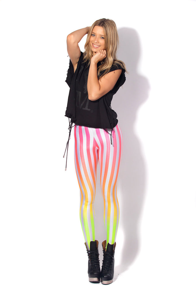 Beetlejuice Neon Sunset Leggings