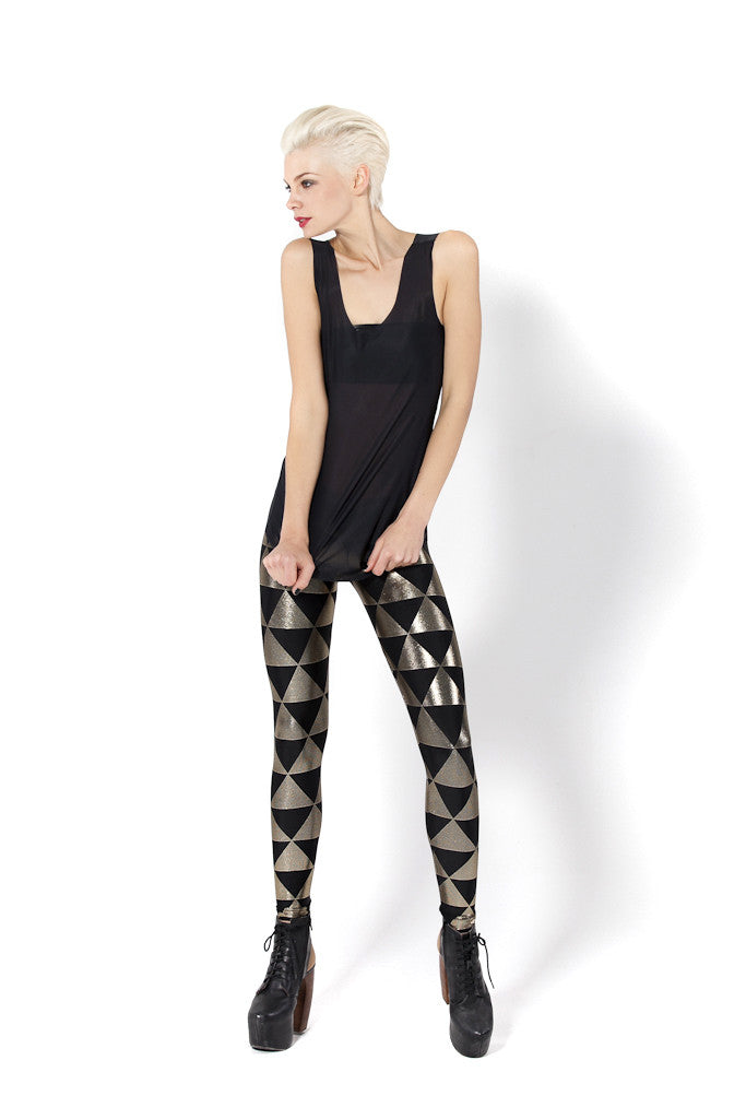 Triangle Gold Leggings