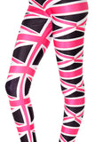 Union Jack Pink/Black Leggings