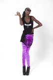 Crushed Velvet Fluro Purple Leggings
