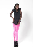 Crushed Velvet Fluro Pink Leggings
