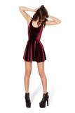 Velvet Mulled Wine Evil Skater Dress
