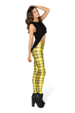Tartan Yellow Leggings
