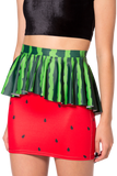 Watermelon Peplum Skirt