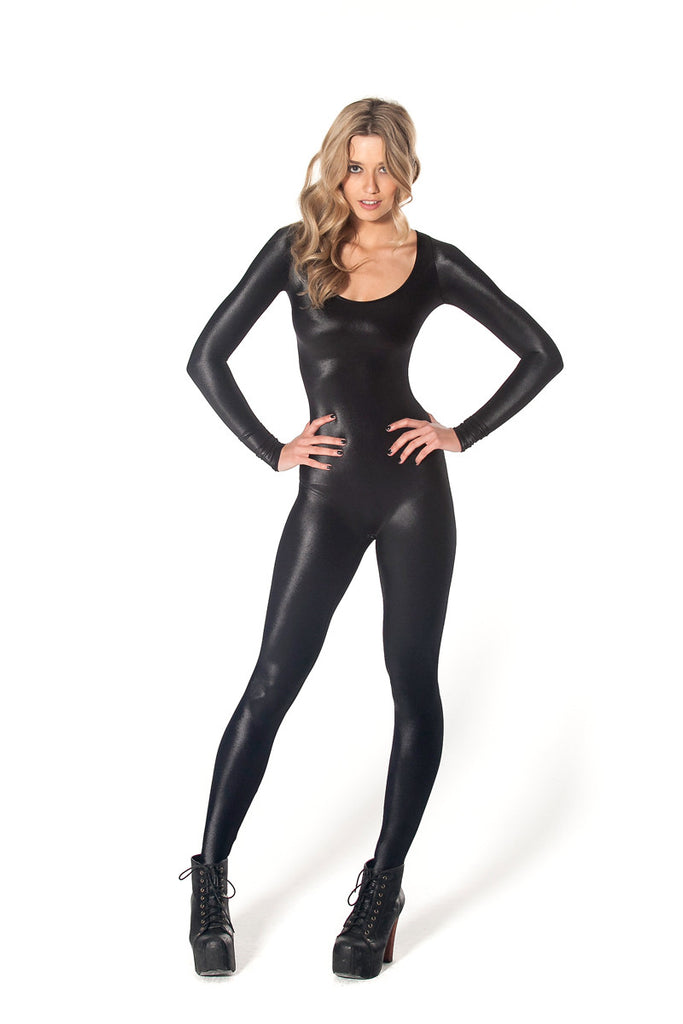Wet Look Long Sleeve Catsuit