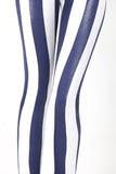 Wet Look Sailor Stripe Leggings