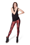 Year of the Snake Black Leggings