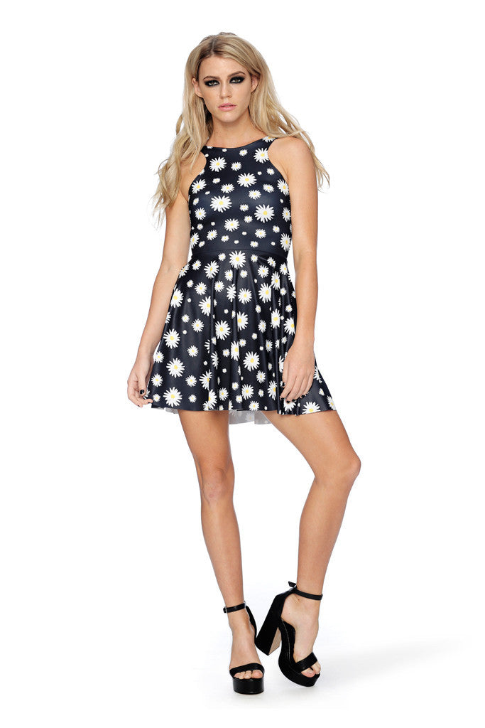 You're Driving Me Daisy Reversible Skater Dress