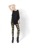 Zig Zag Gold Leggings