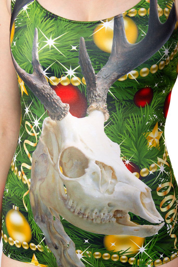 Zombie Rudolph Photo Bombing your Christmas Tree Swimsuit