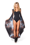 Galaxy Black Hooded Cape