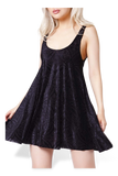 Burned Velvet Baby Doll Dress