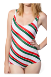 Candy Cane Mix Swimsuit