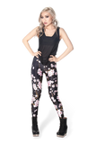 Cherry Blossom Black Leggings