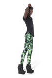 Circuit Board Green Leggings