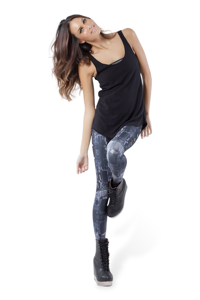Circuit Board Grey Leggings